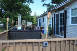 Sherkston Shores RV Resort Cottage for Rent - Deck View